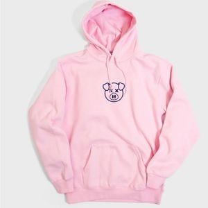 Authentic Shane Dawson Embroidered Pig Logo Hoodie